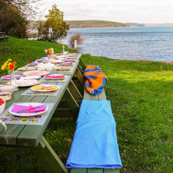 Catering im Freien am See