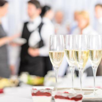 Catering Buffet zu einer Firmenfeier