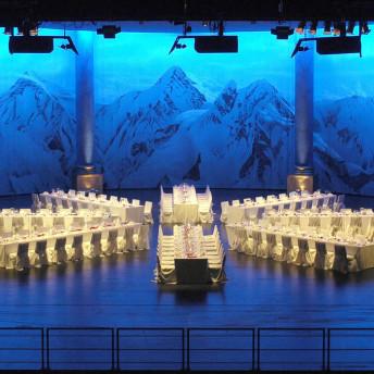 Catering Festlich gedeckte Tische im Festspielhaus Füssen